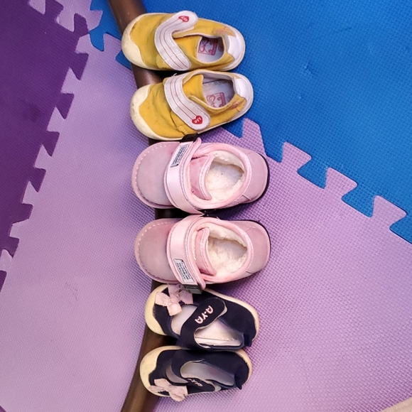3 for $10-  Baby shoes, snow and summer